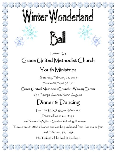 Winter Wonderland Ball @ Grace UMC   North Augusta   South Carolina   United States