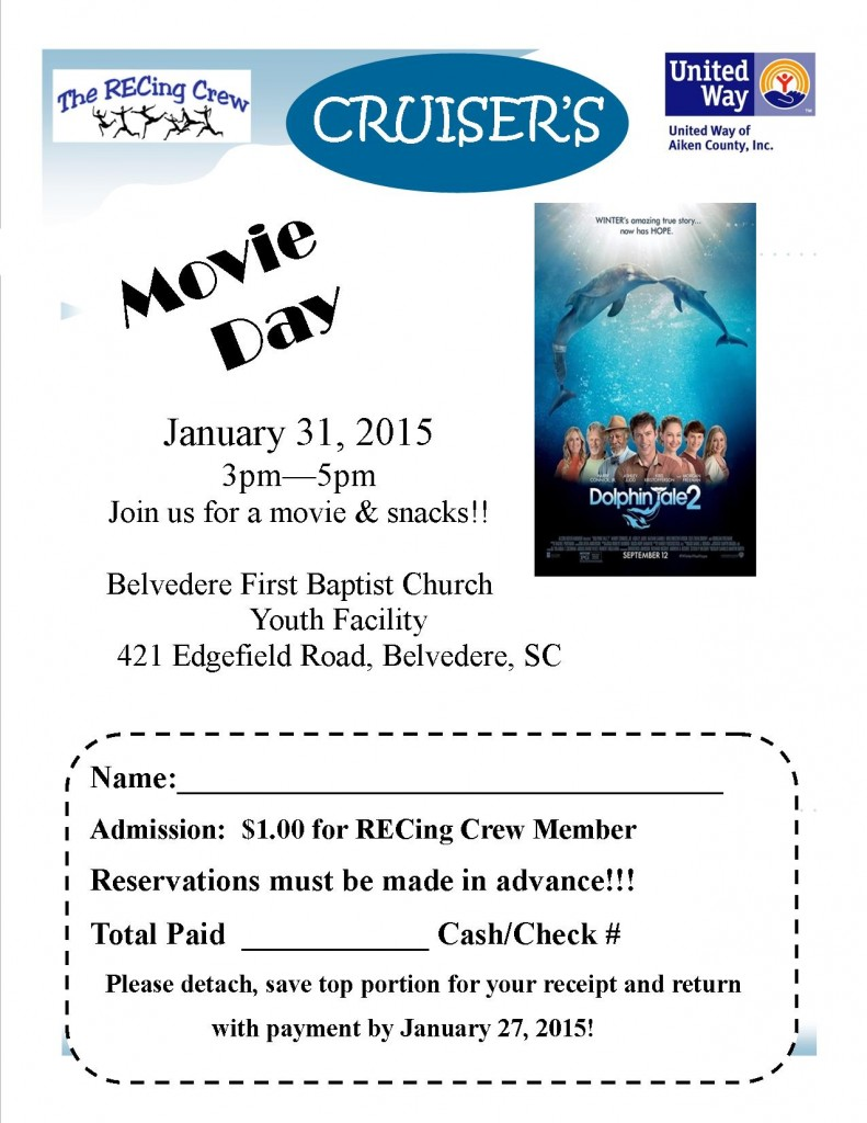 Cruiser's Movie Day - Dolphin Tale 2 @ Belvedere First Baptist Church/Youth Facility | North Augusta | South Carolina | United States