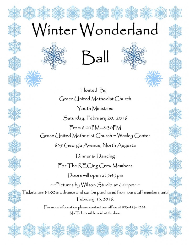 Winter Wonderland Ball February 20, 2016