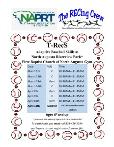 North Augusta adaptive baseball schedule