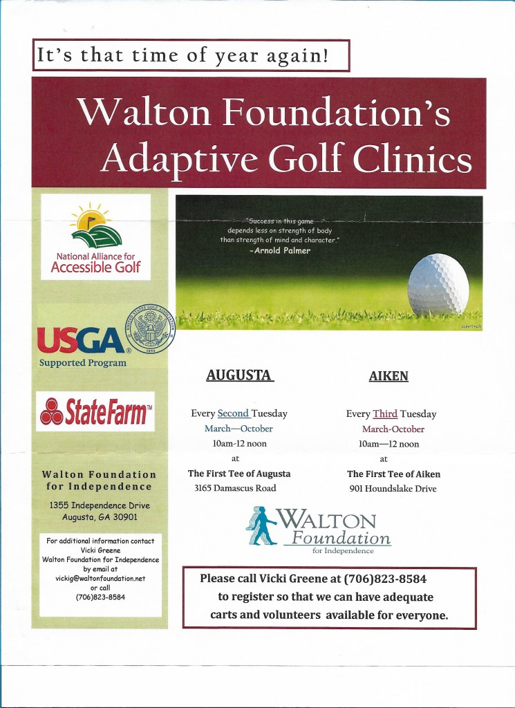 WF adaptive golf clinics