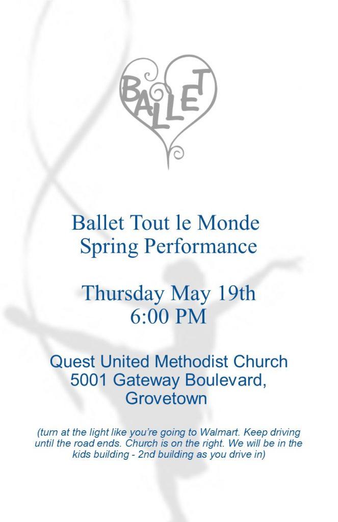 2016 Ballet Tout le Monde recital