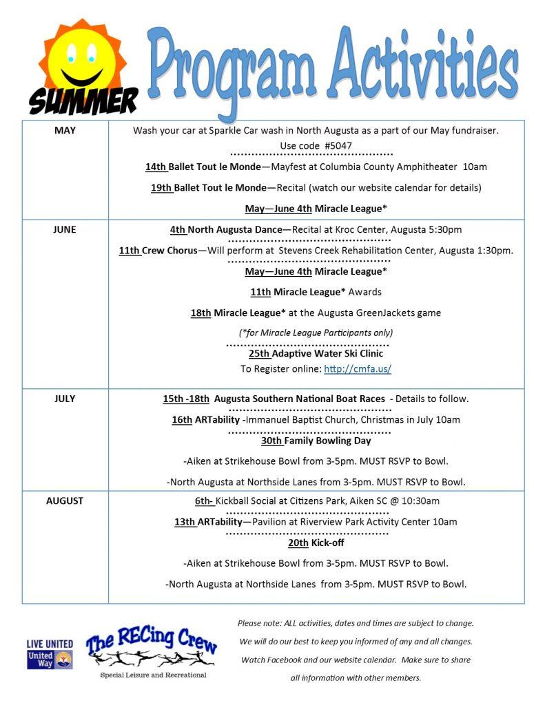 Summer Program Activities